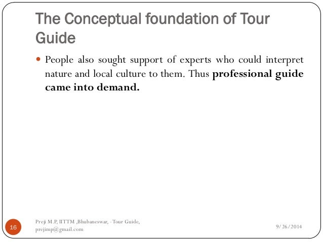 principles and ethics of tour guiding pdf