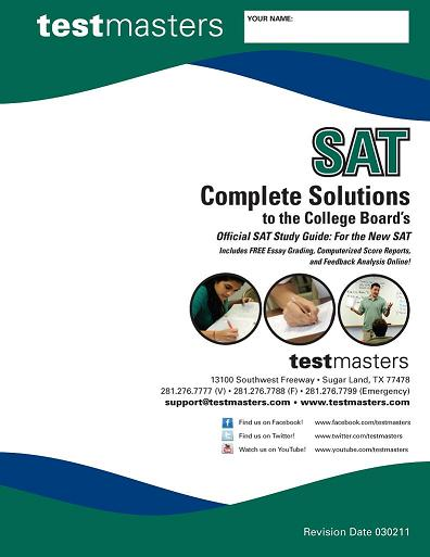 official sat study guide book
