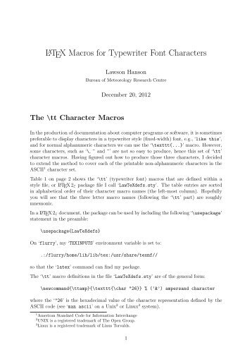 short math guide for latex