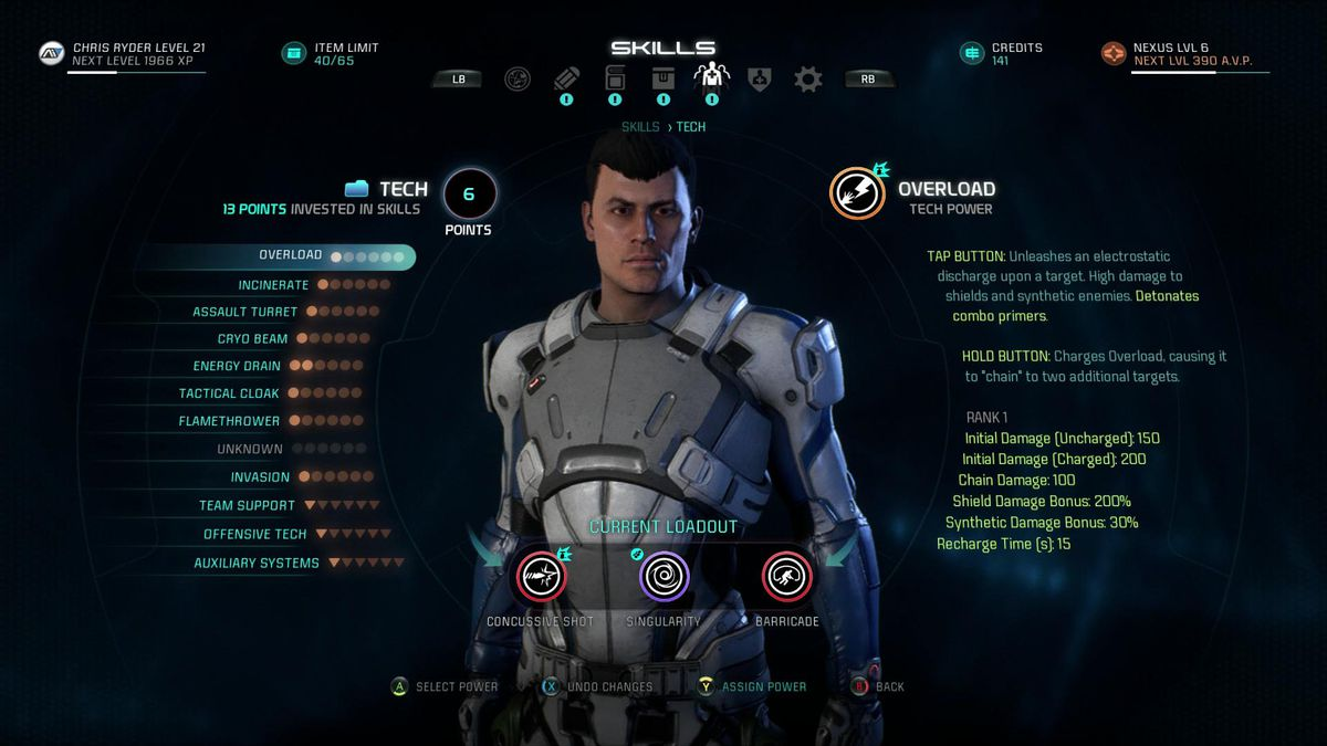 mass effect andromeda profiles guide