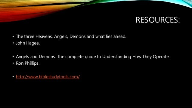 angels and demons companion study guide to the three heavens