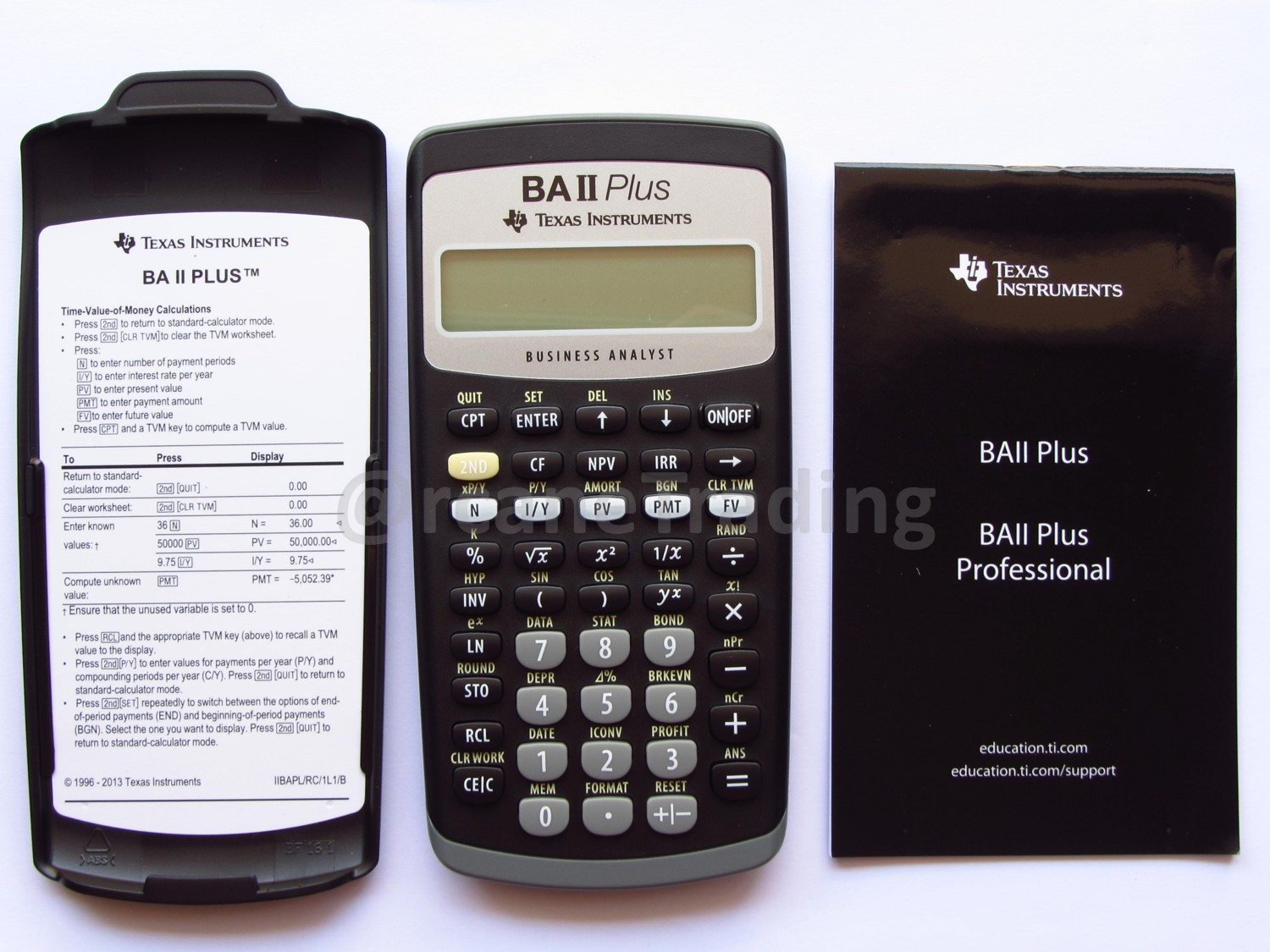 texas instruments ba ii plus guide