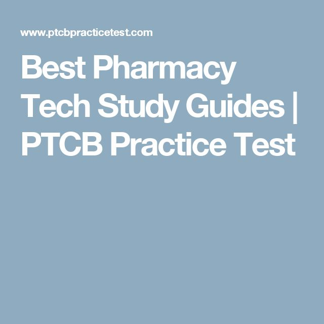 pharmacy technician test study guide