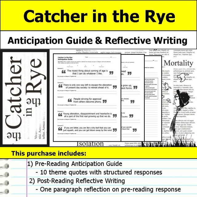 catcher in the rye anticipation guide