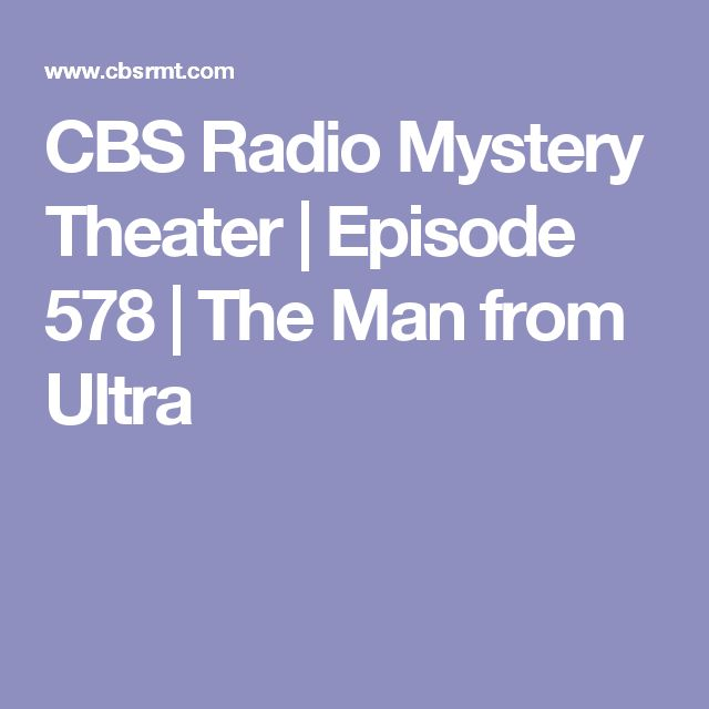cbs mystery theater episode guide