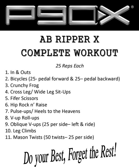 free workout guides p90x ripper