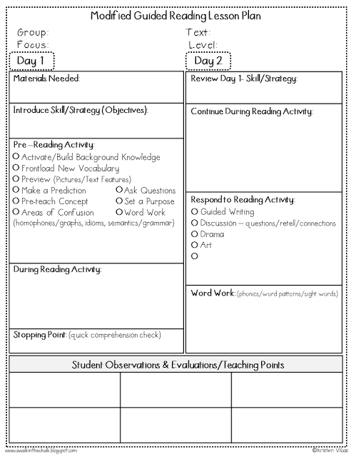 guided reading lesson plans 4th grade