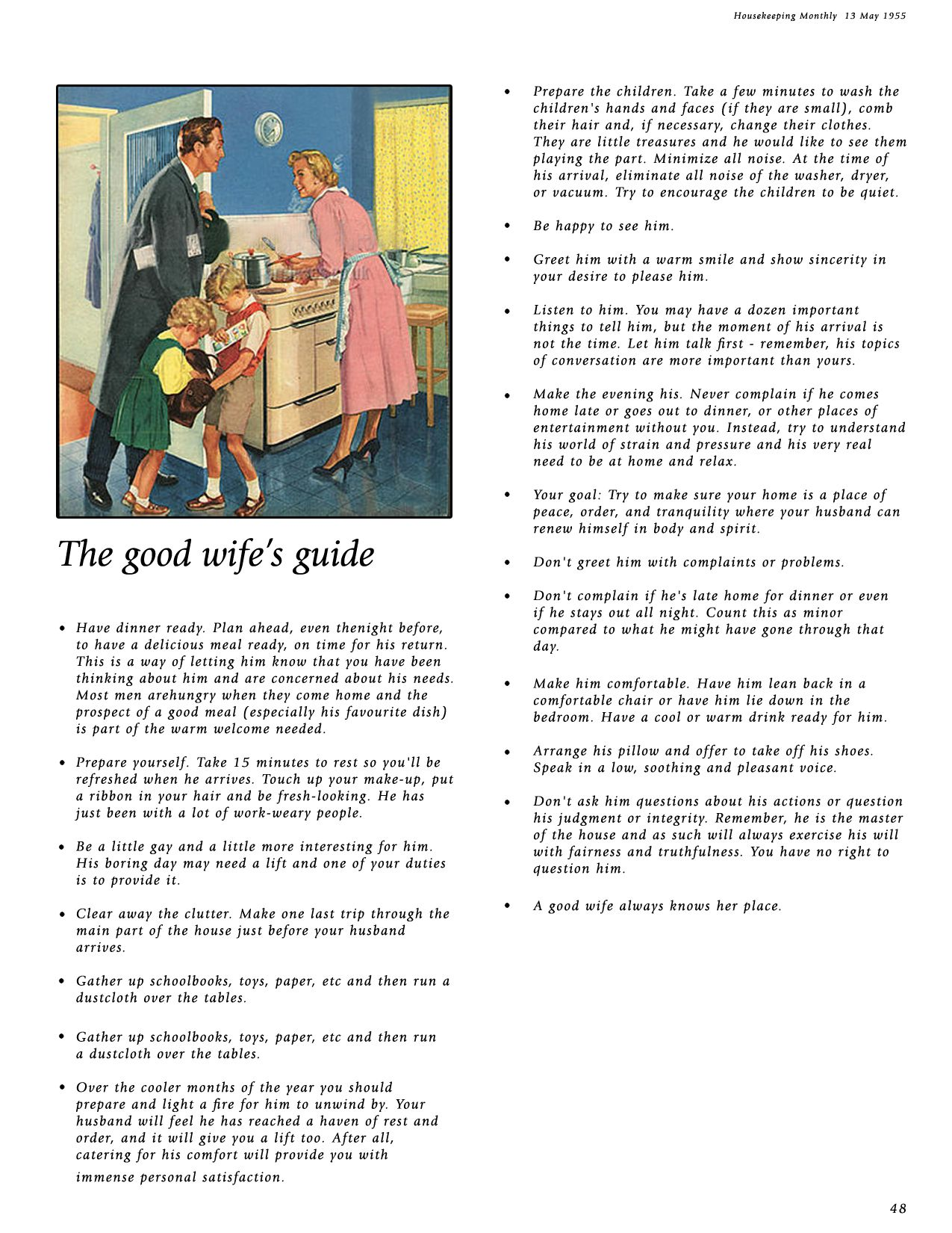 the good wife guide book 1955